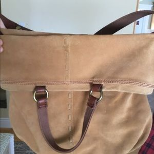 Lucky Brand tan colored suede purse